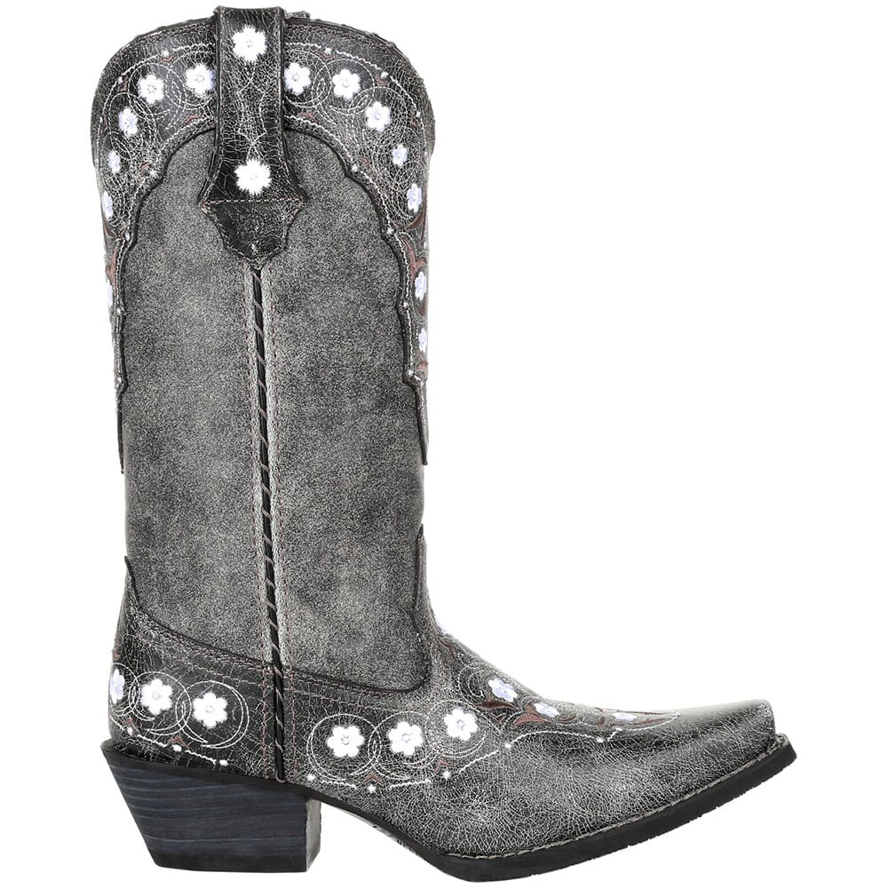DRD0361 Durango Women's Crush Floral Western Boots - Pewter