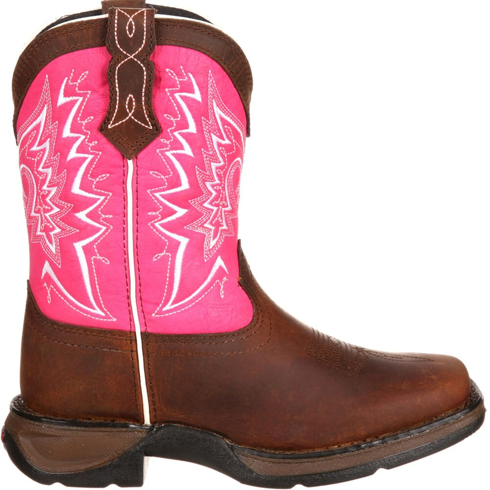 DWBT093 Lil' Durango Little Kid Let Love Fly Western Boots - Brown/Pink