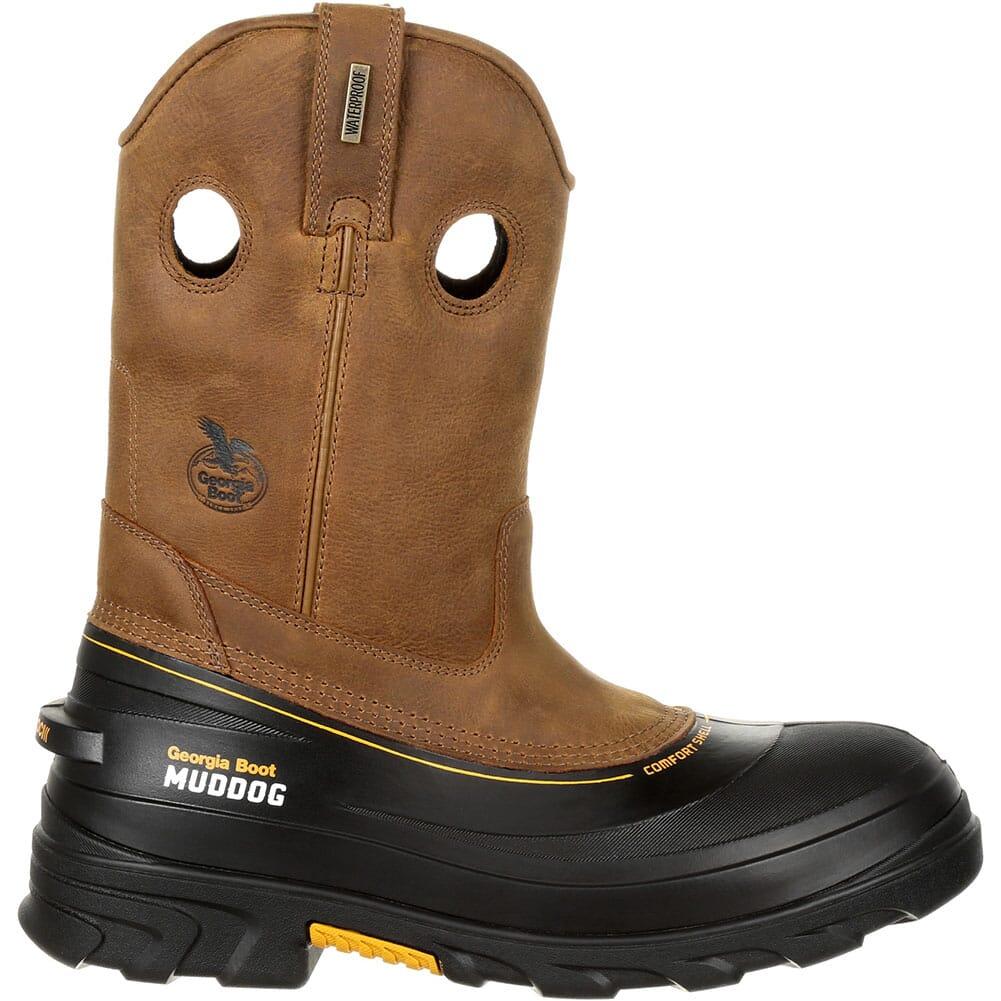 Georgia Men's Muddog WP Safety Boots - Barracuda Gold