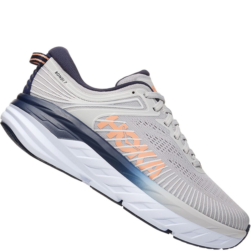 1110531-LRBI Hoka One One Women's Bondi 7 Wide Athletic Shoes - Lunar Rock