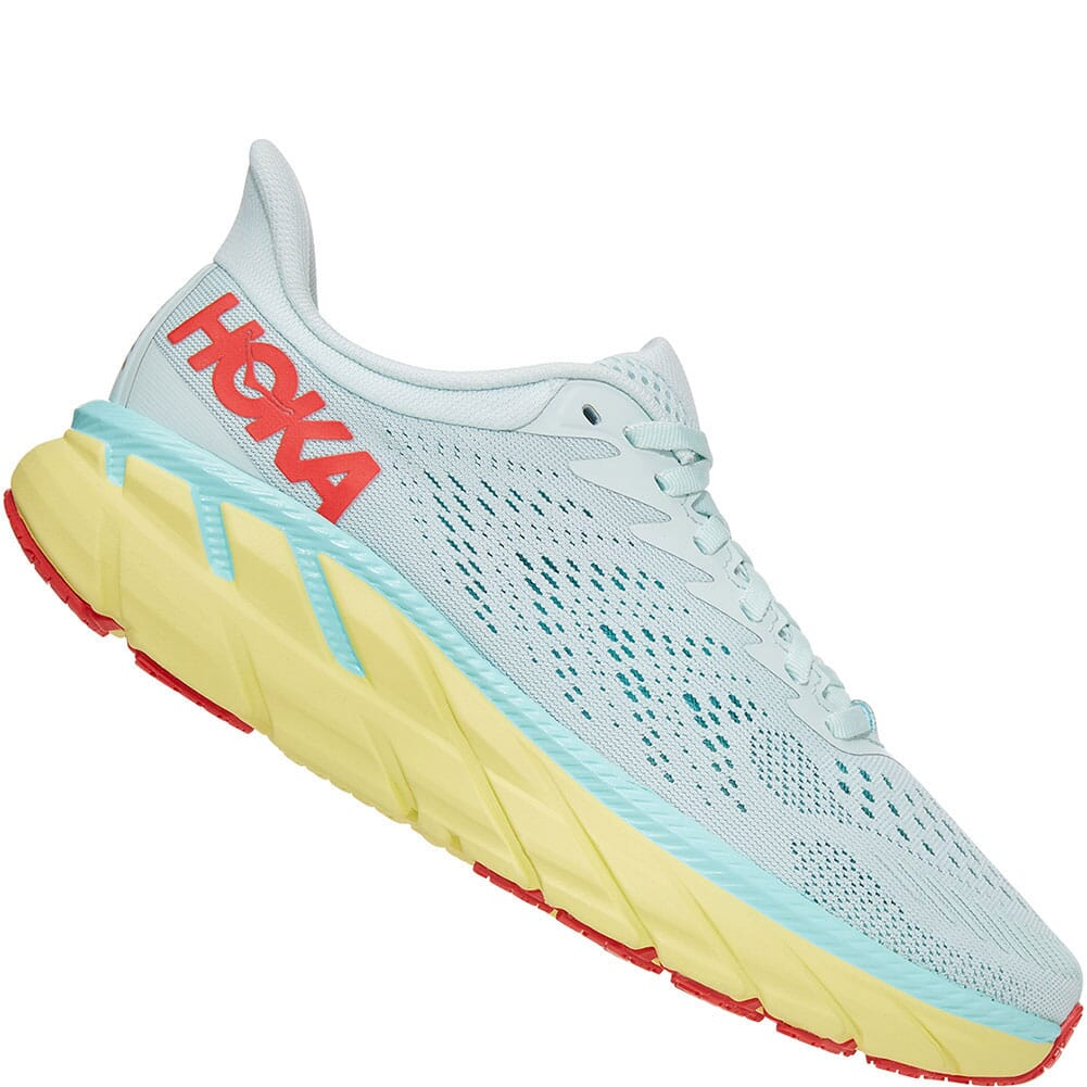 1110535-MMHC Hoka One One Women's Clifton 7 Wide Running Shoes - Morning Mist
