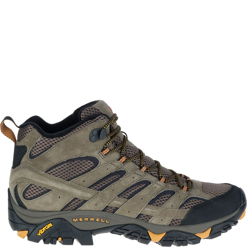 Merrell Men's Moab 2 Mid Ventilator Wide Hiking Boots - Walnut