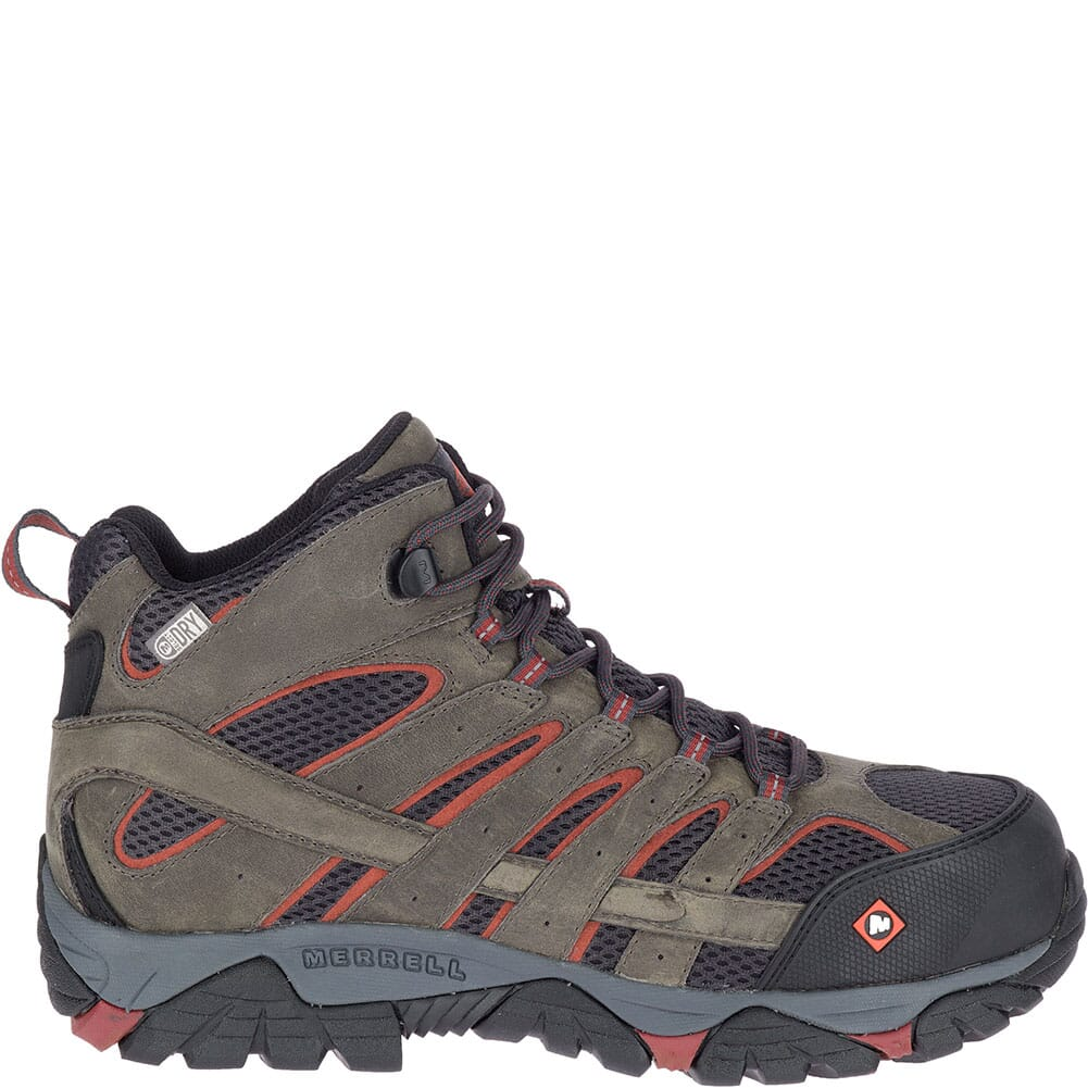 Merrell Men's Moab Vertex Vent Safety Boots - Pewter