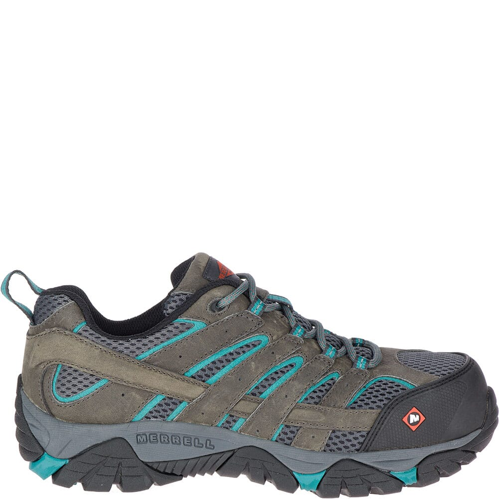Merrell Women's Moab Vertex Vent Safety Shoes - Pewter