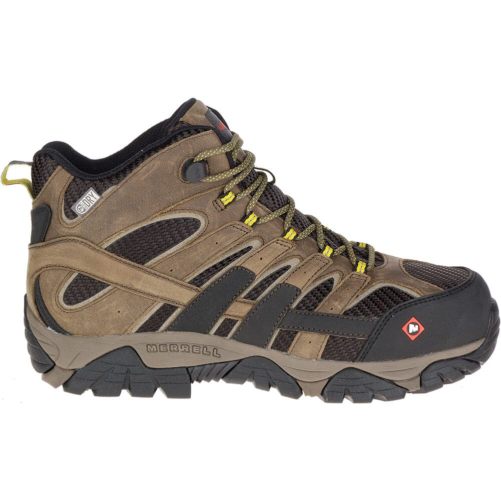 Merrell Men's Moab 2 Vent Mid WP Safety Boots - Boulder