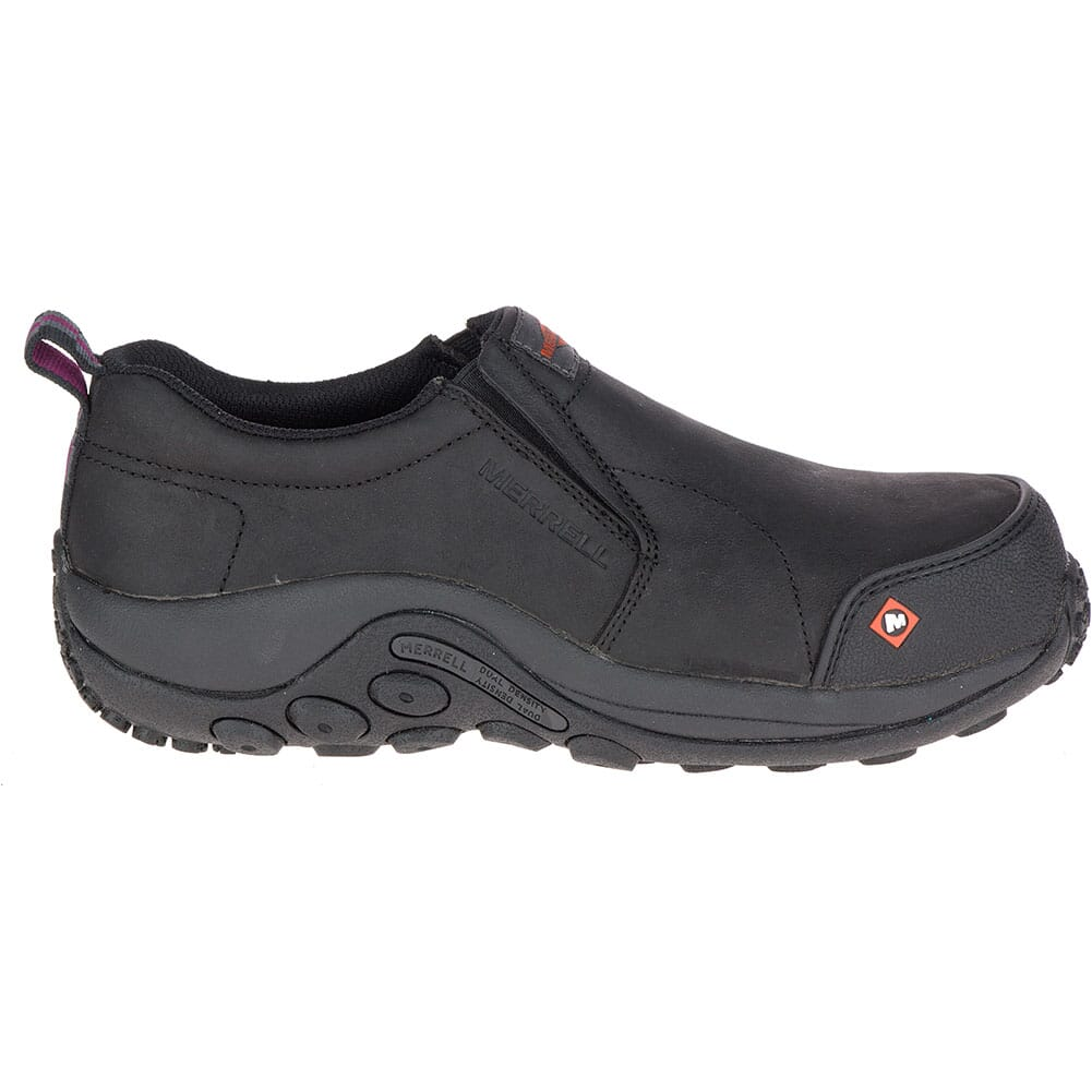 Merrell Women's Jungle Moc Safety Shoes - Black