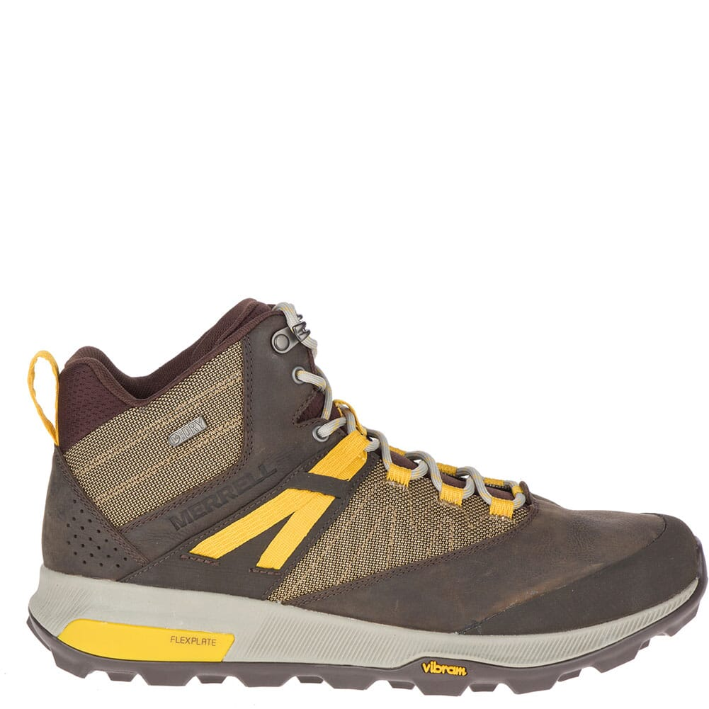 Merrell Men's Zion Mid WP Hiking Boots - Seal Brown