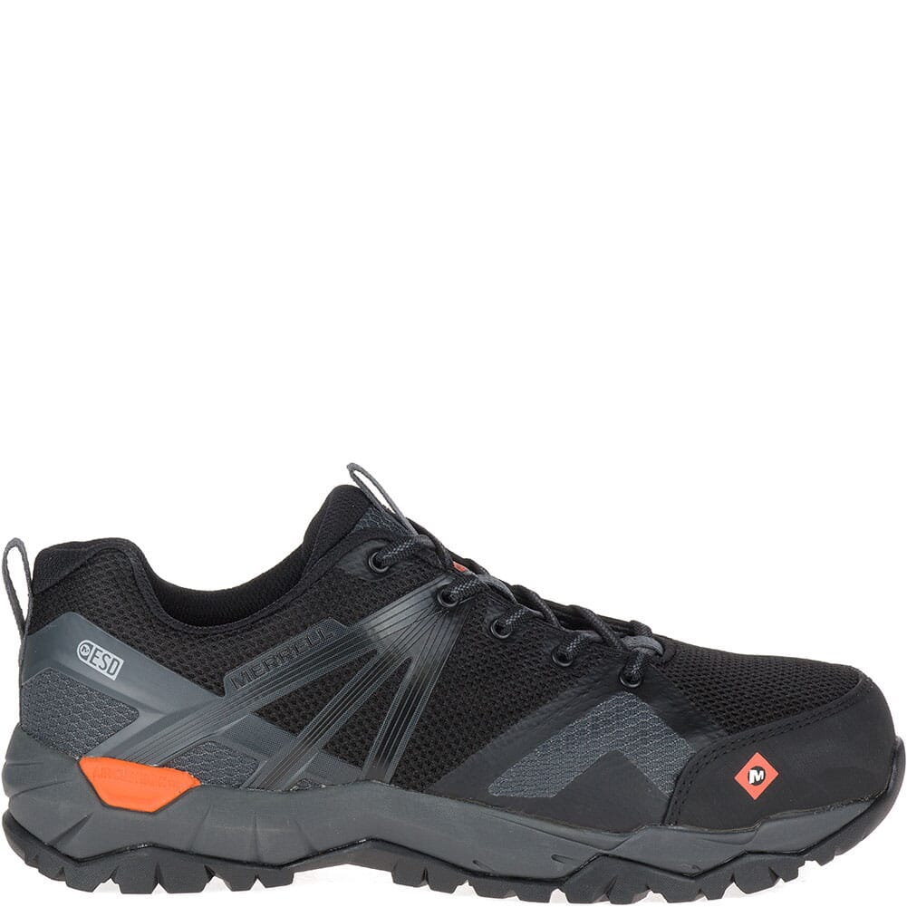 Merrell Men's Fullbench 2 SD Safety Shoes - Black