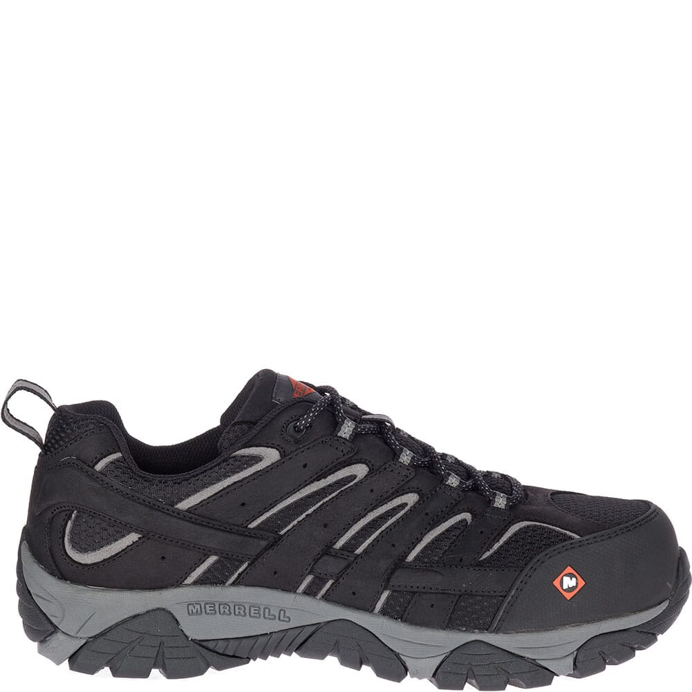 Merrell Men's Moab Vertex Vent Safety Shoes - Black