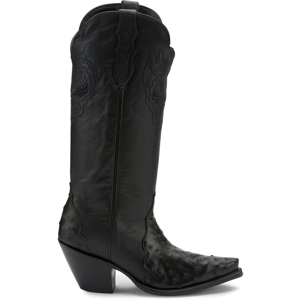 RML352 Justin Women's Chelsea Full Quill Casual Boots - Black