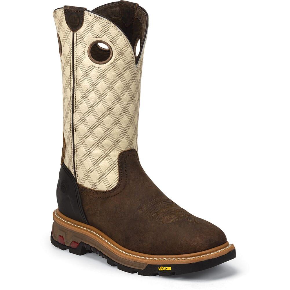 Justin Original Men's Roughneck Work Boots - Bone/Tan