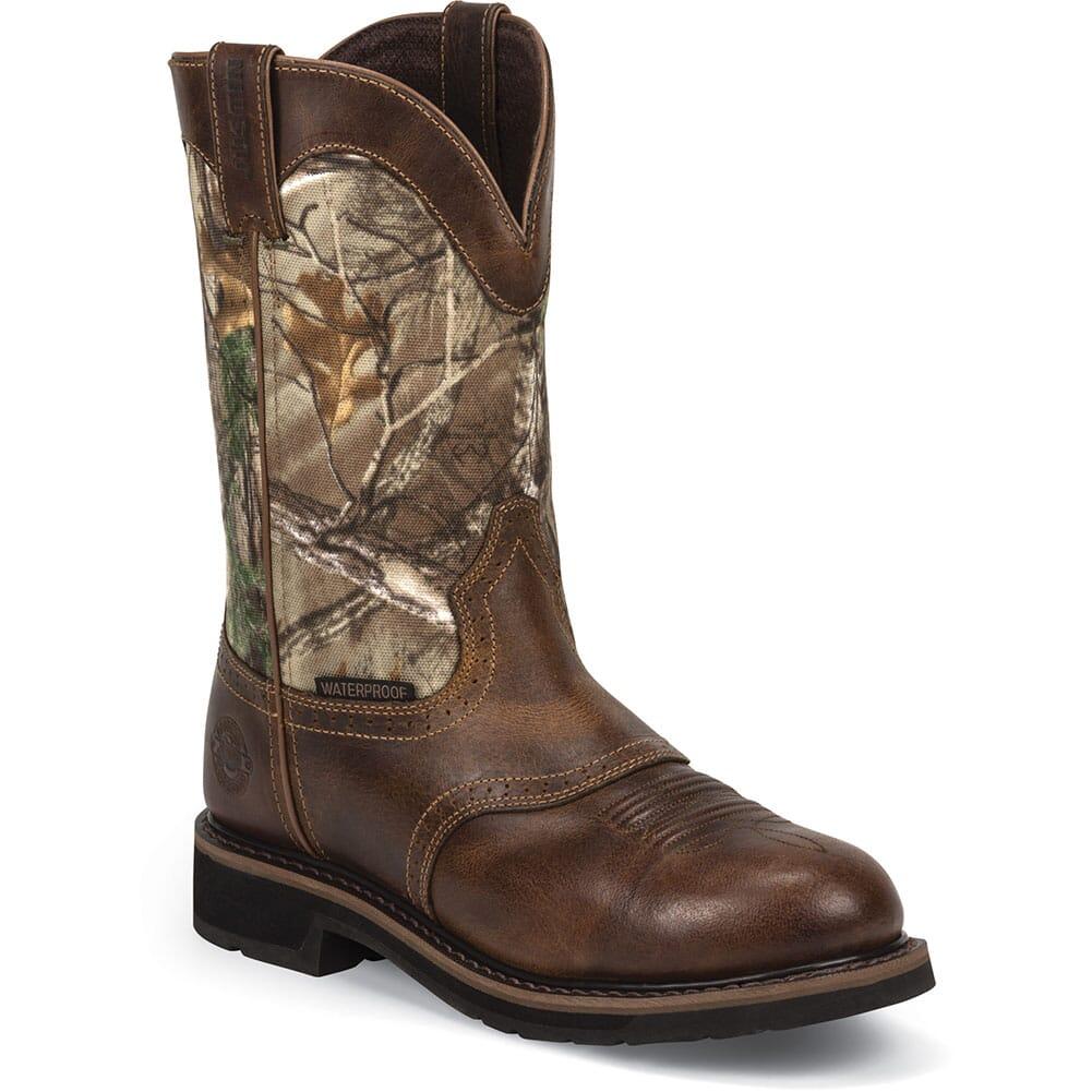 Justin Original Men's Trekker Work Boots - Brown/Camo