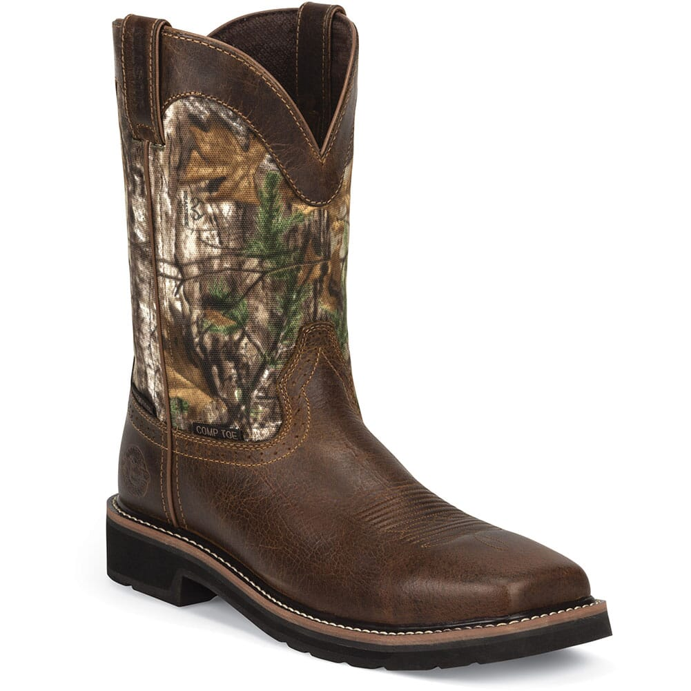 Justin Men's Stampede WP Safety Boots - Rugged Tan