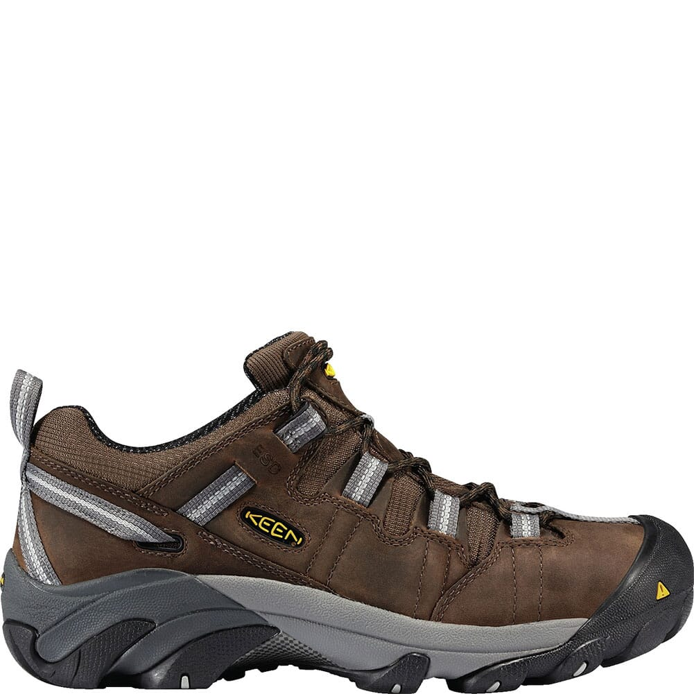 KEEN Utility Men's Detroit Low ESD Safety Shoes - Dark Brown