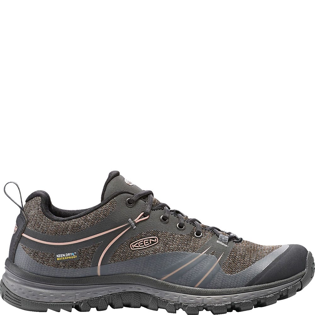 KEEN Women's Terradora WP Hiking Boots - Raven/Rose Dawn
