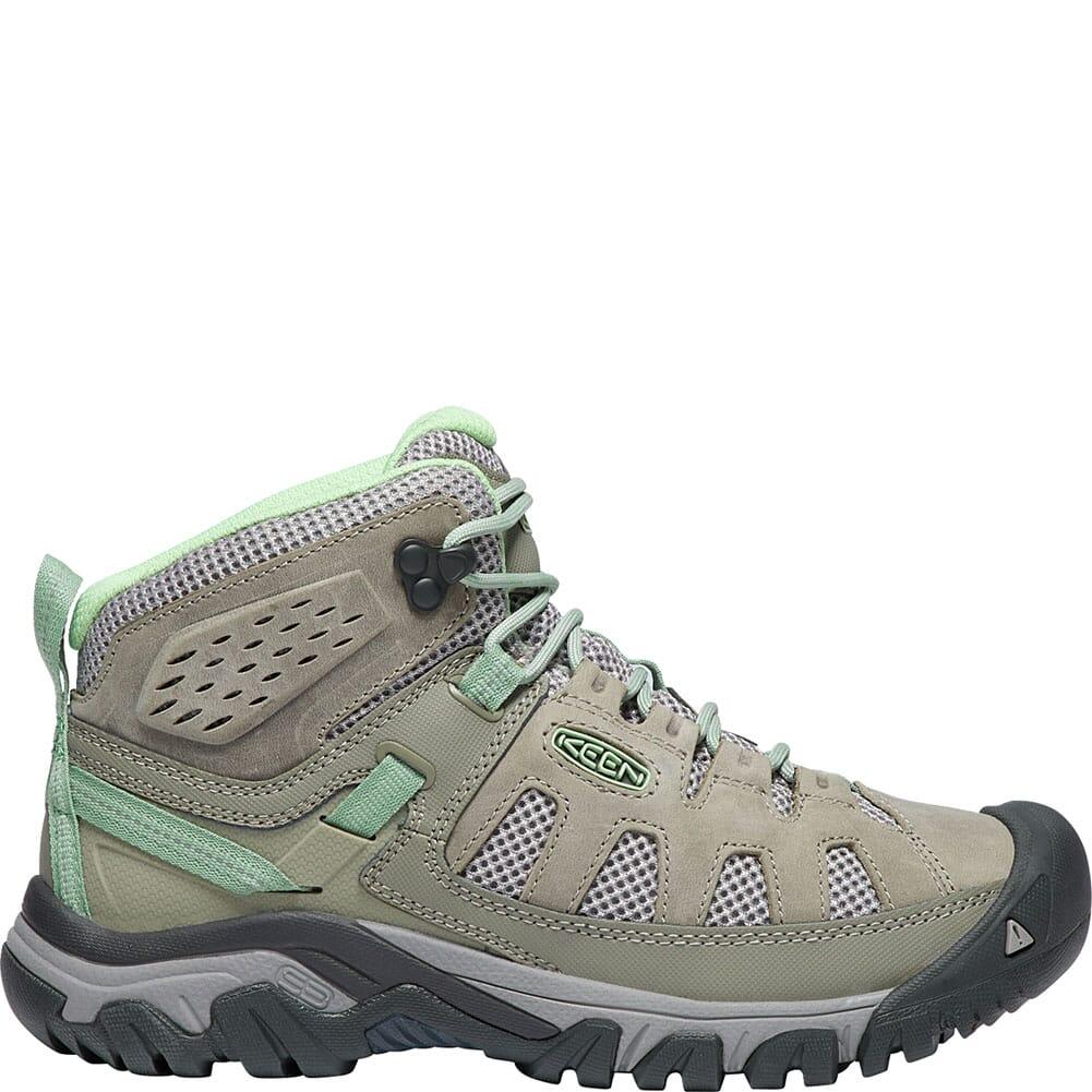 KEEN Women's Targhee Vent Mid Hiking Boots - Fumo/Quiet Green