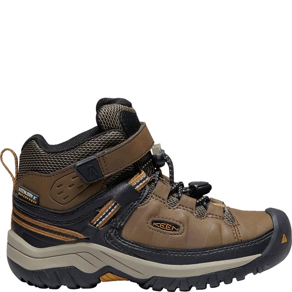 KEEN Children Targhee Waterproof Hiking Boots - Dark Earth/Golden Brown
