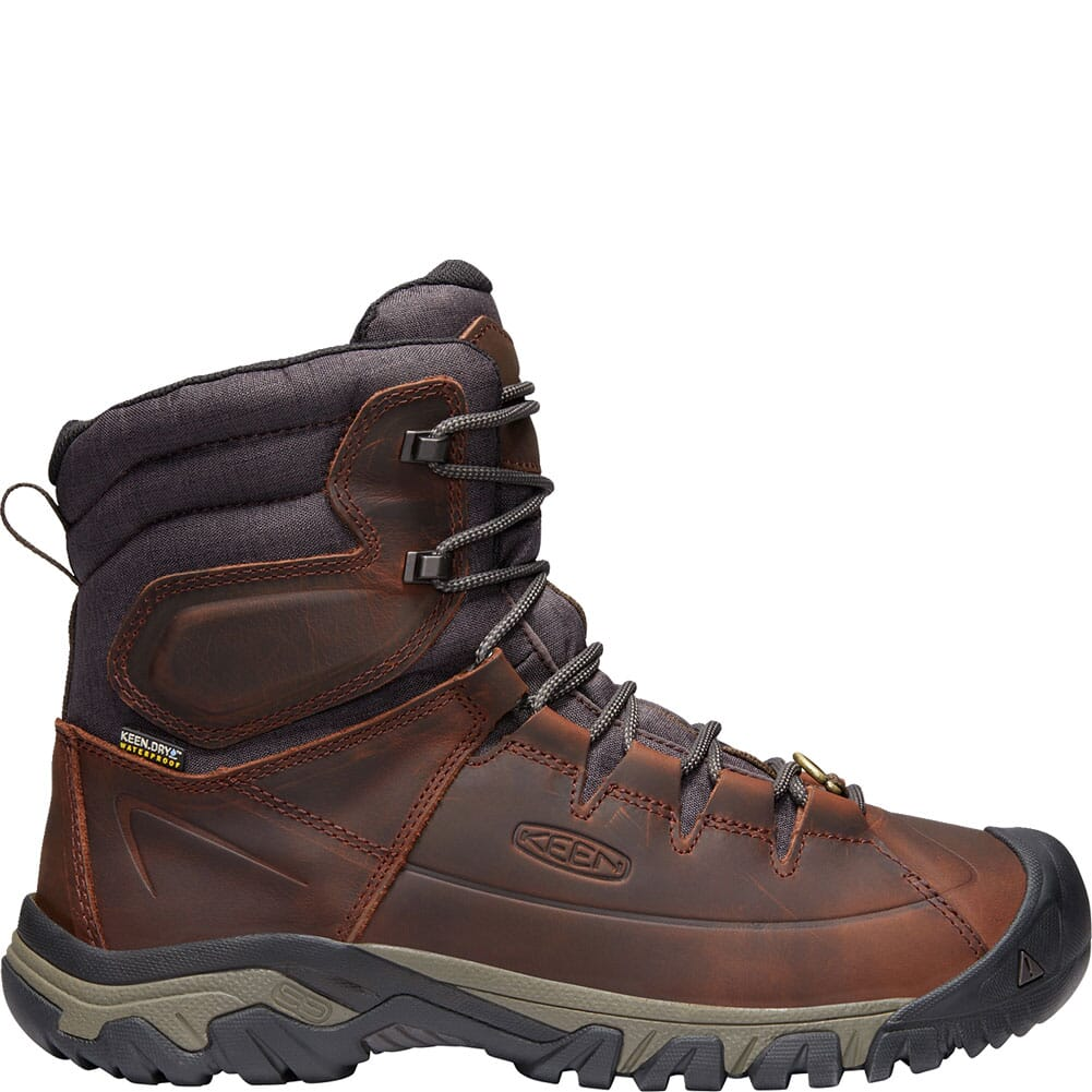 KEEN Men's WP Targhee Lace High Hiking Boots - Cocoa/Mulch