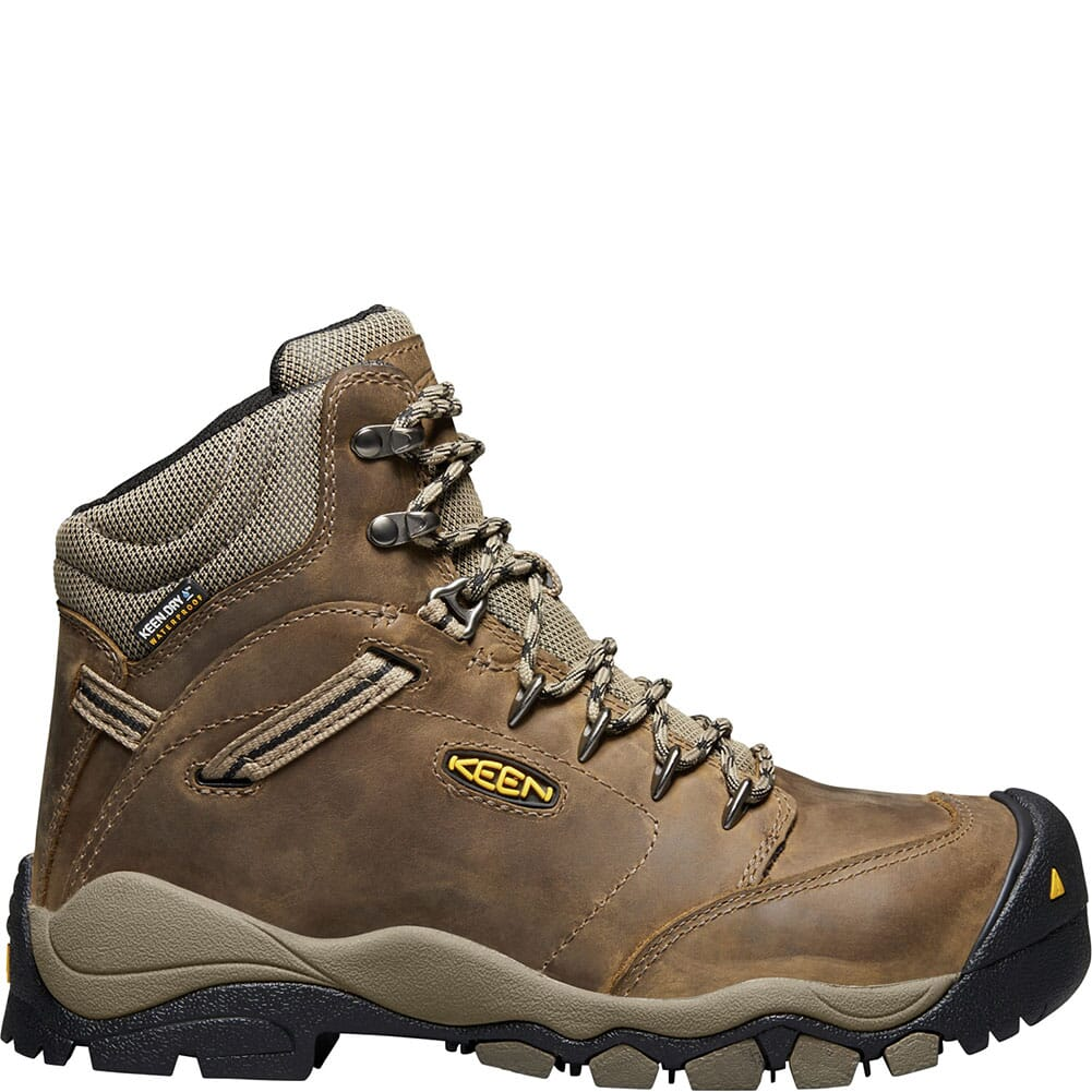 KEEN Utility Women's Canby WP Safety Boots - Shitake/Brindle