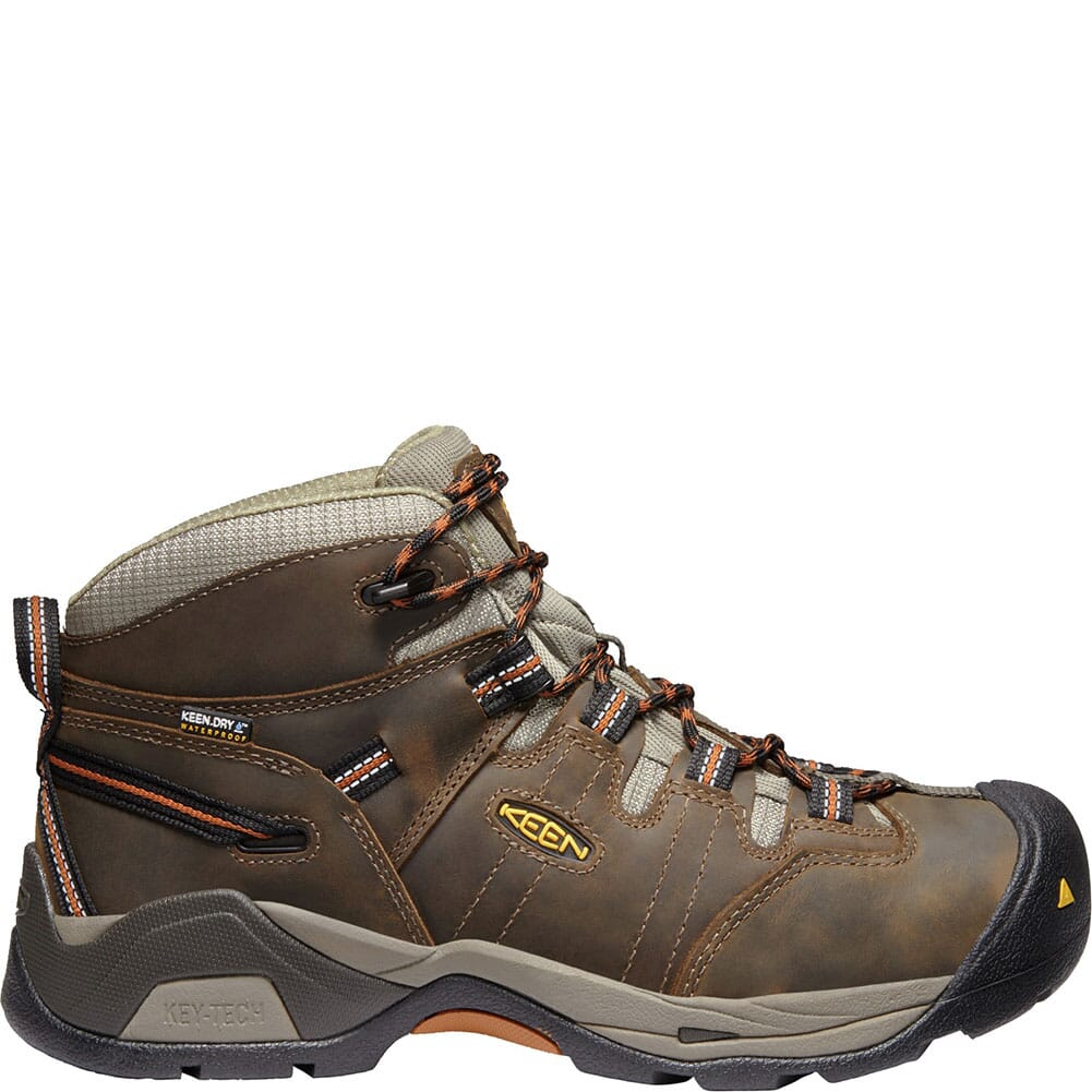 KEEN Men's Detroit XT WP Work Shoes - Black Olive/Brown
