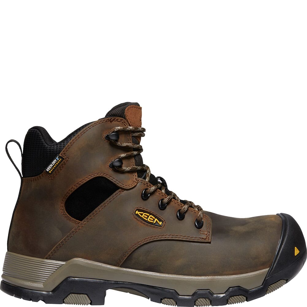 KEEN Men's Rockford WP Safety Boots - Cascade Brown/Black