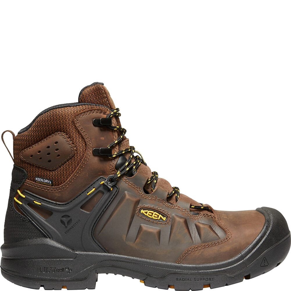 KEEN Men's Dover Safety Boots - Dark Earth/Black