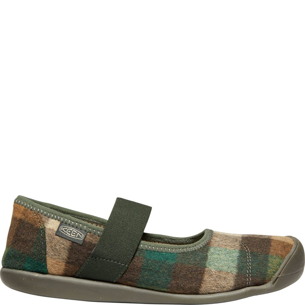 KEEN Women's Sienna Mary Jane Plaid Casual Shoes - Brown/Climbing Ivy