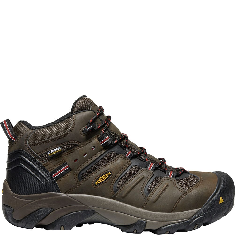 1022098 KEEN Utility Men's Lansing Mid WP Safety Boots - Cascade Brown