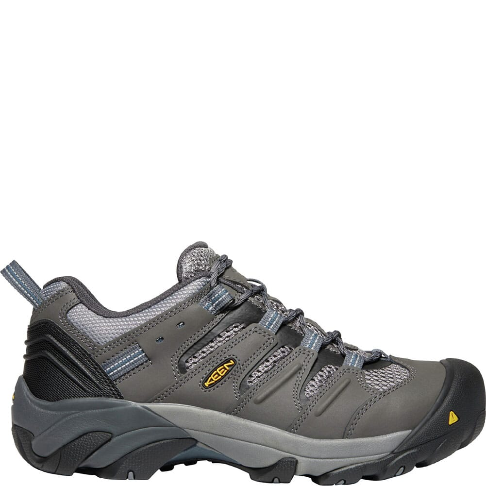 1023204 KEEN Utility Men's Lansing Low Safety Shoes - Magnet/Majolica Blue