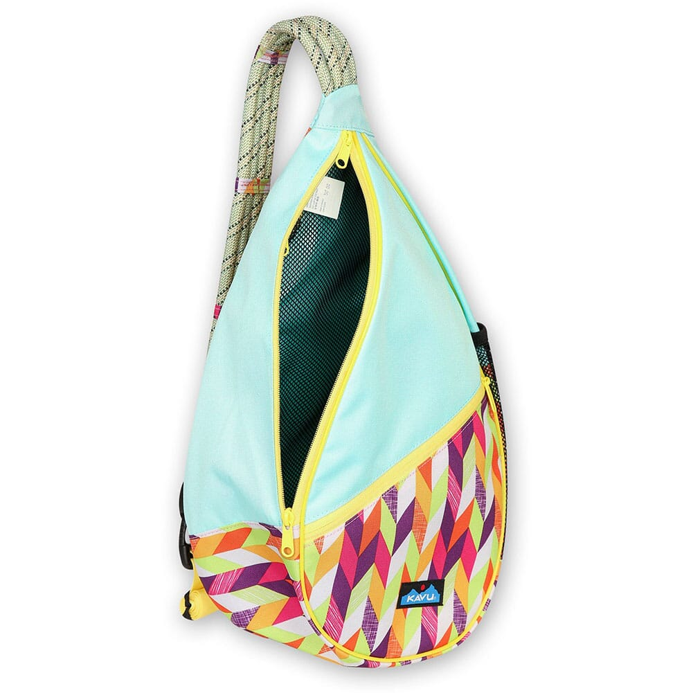 870-1379 Kavu Women's Paxton Pack Rope Bag - Chevron Punch