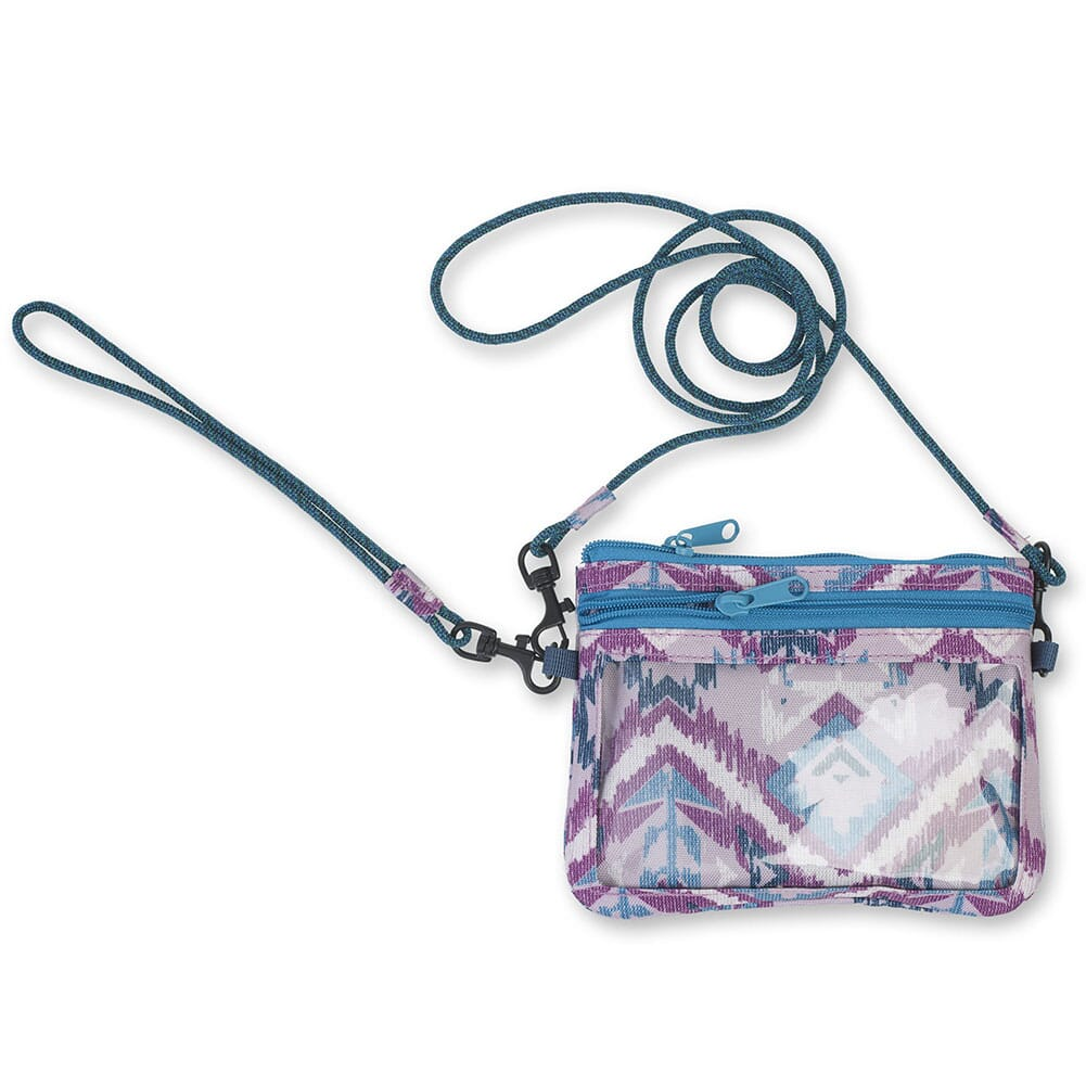 KAVU Women's Renrose Cross Body Wallet - Purple Ikat