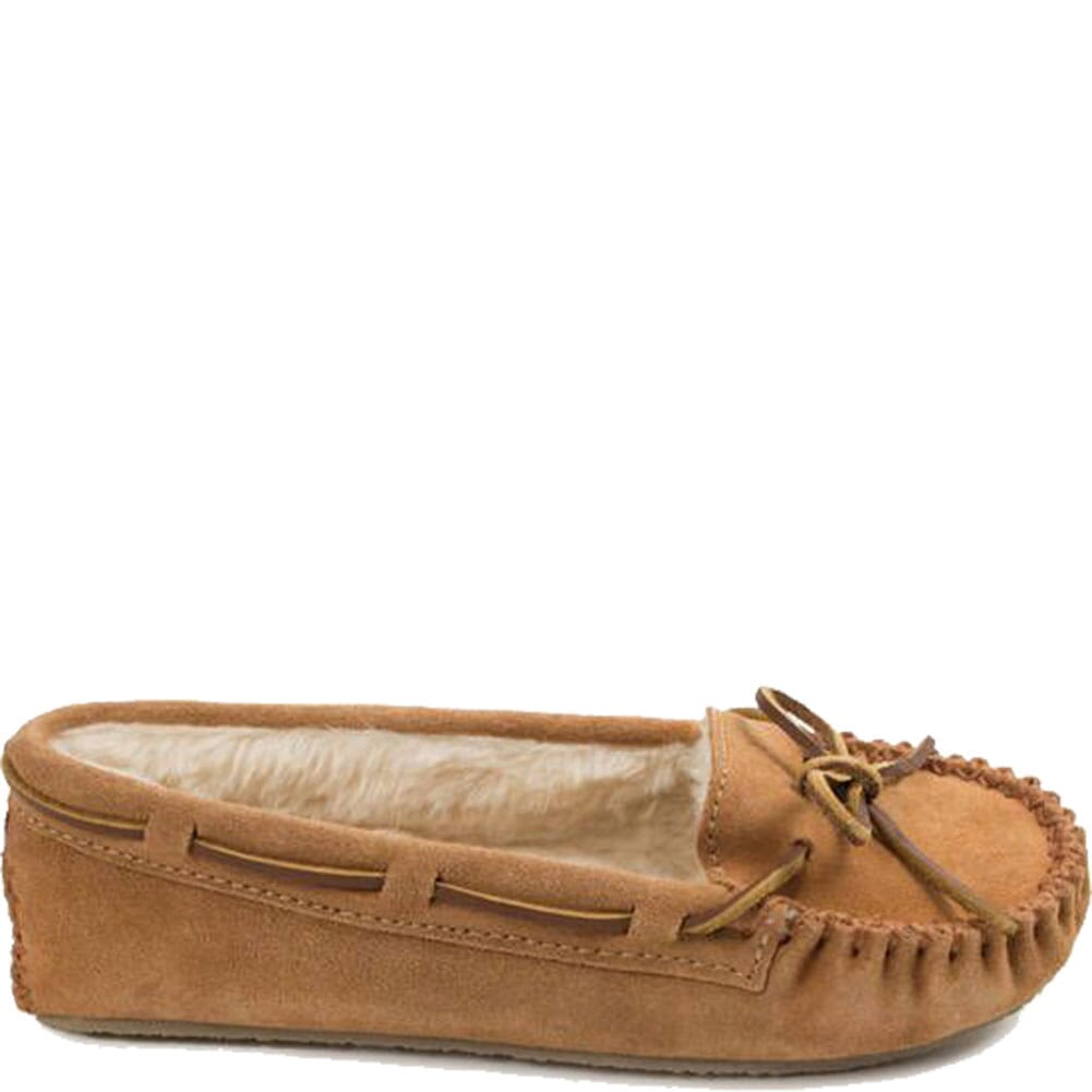 4011 Minnetonka Women's Cally Sheepskin Moccasins - Cinnamon