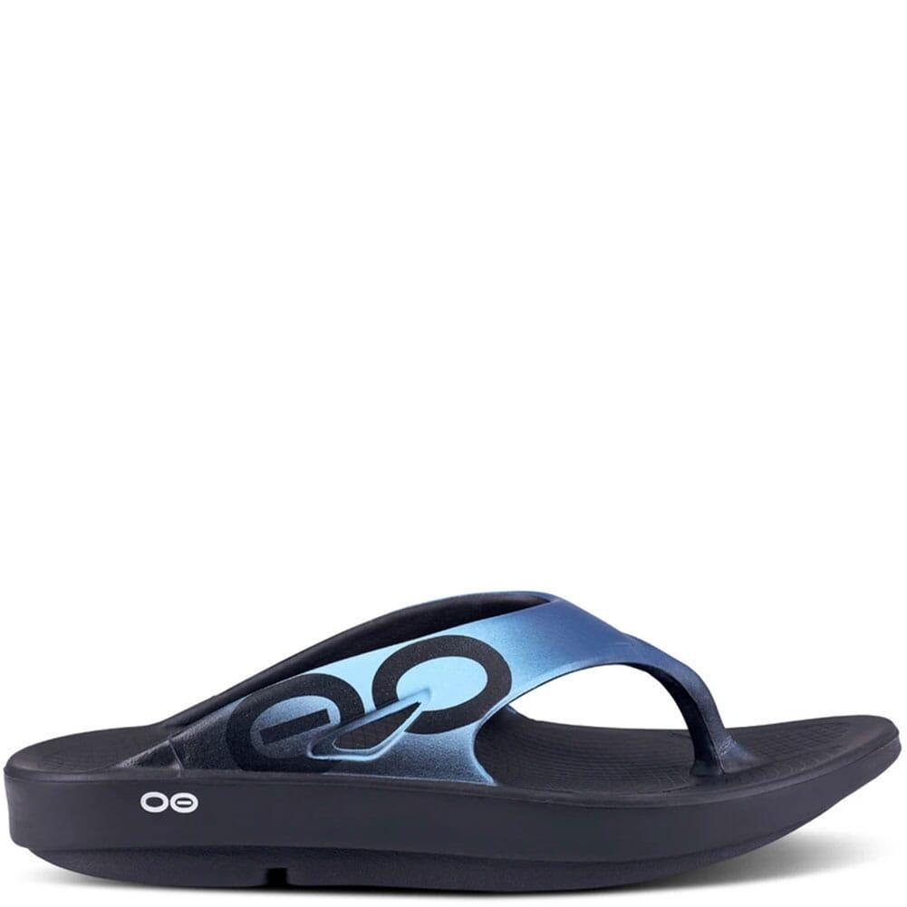 1001-BLKAZUL OOFOS Unisex OOriginal Sport Sandals - Black/Azul