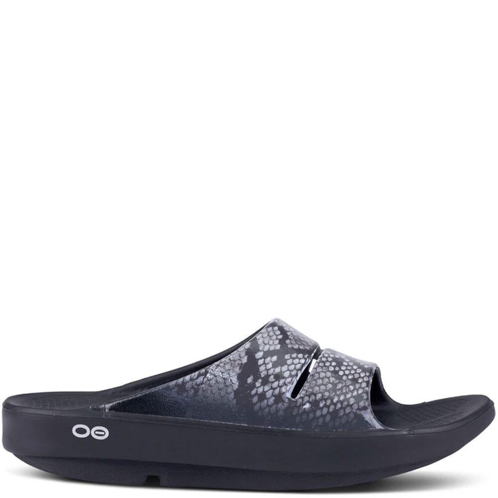 1103-SNK OOFOS Women's OOAHH Luxe Slide Sandals - Snake