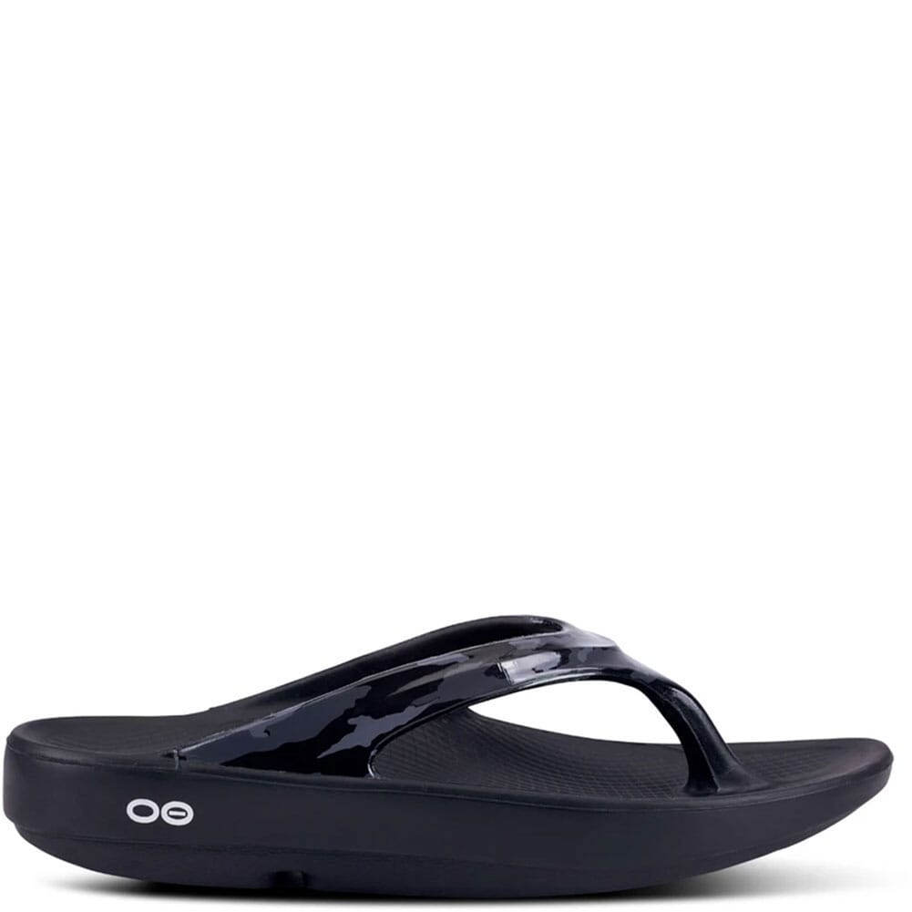 1403-BLKGYCM OOFOS Women's OOlala Limited Sandals - Black/Grey Camo