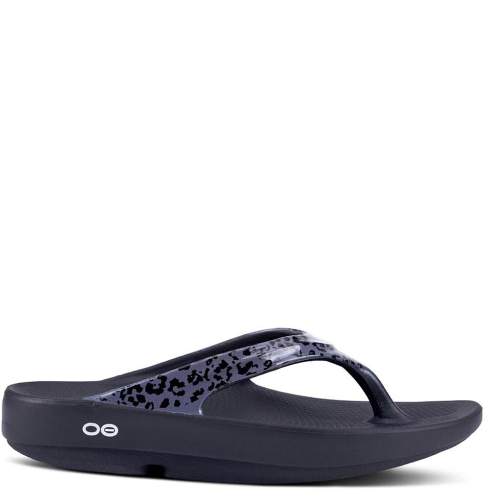1403-GYLPD OOFOS Women's OOlala Limited Sandals - Grey Leopard