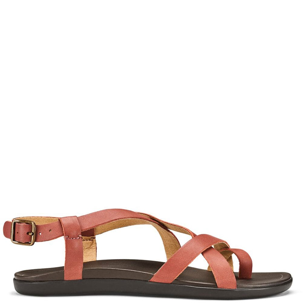 20288-CW48 OluKai Women's UPENA Sandals - Cedar Wood/Dark Java