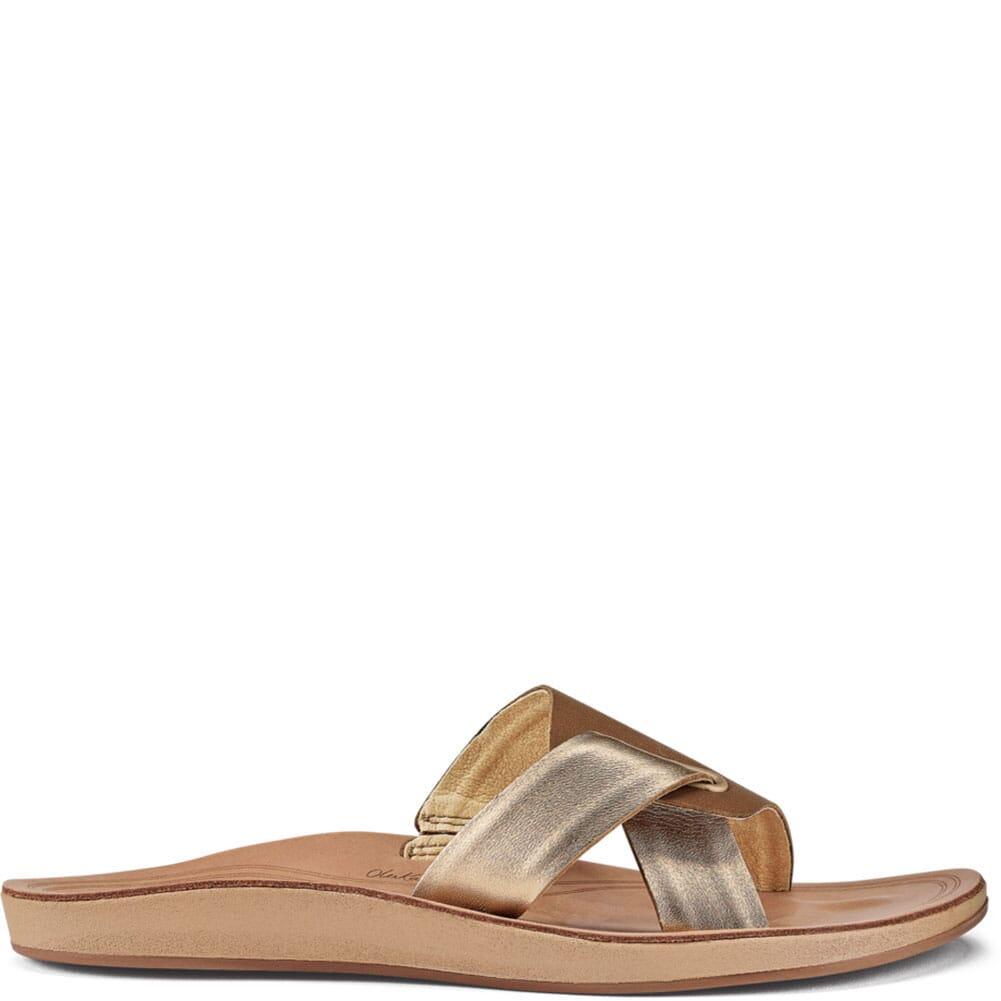 20441-34GS OluKia Women's Nonohe 'Olu Flip Flops - Tan/Golden Sand