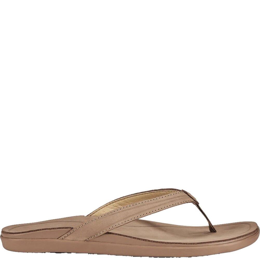 20442-3434 OluKia Women's Aukai Flip Flops - Tan/Tan