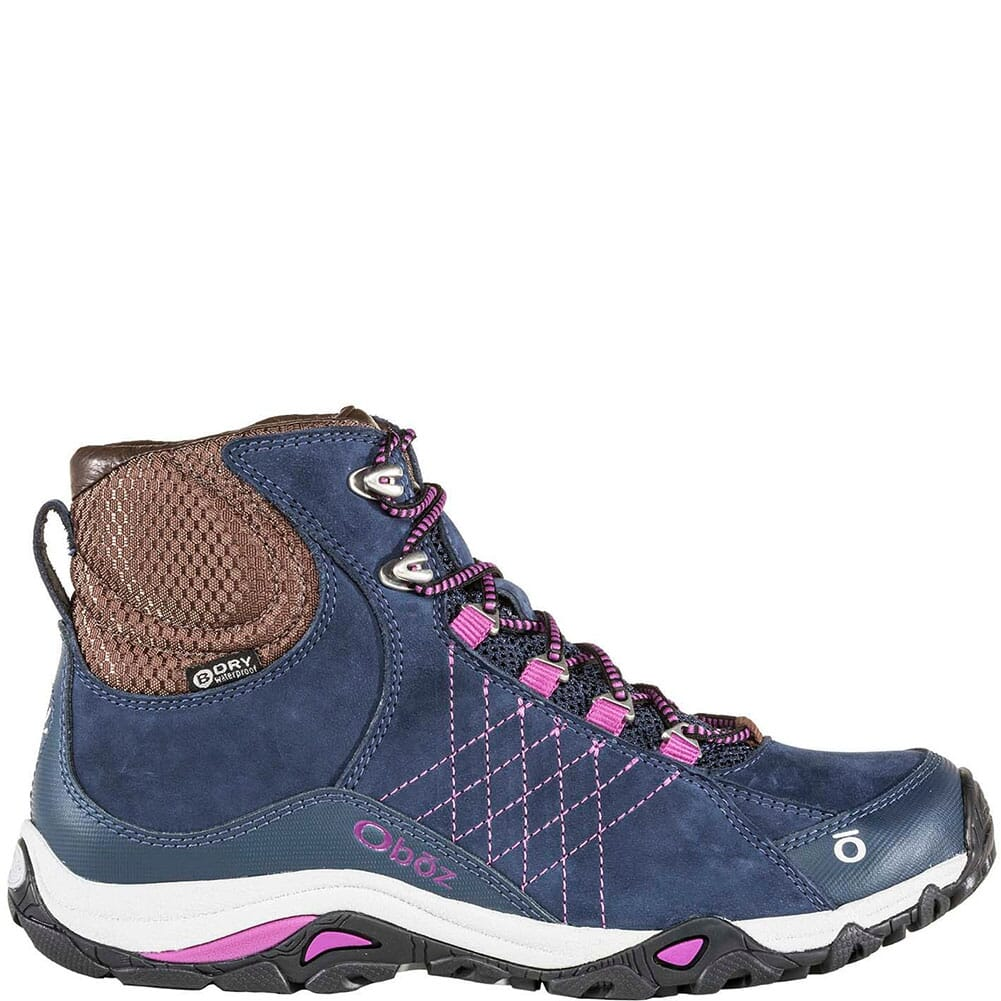 70602-HKBY OBOZ Women's Sapphire Mid WP Hiking Boots - Huckleberry