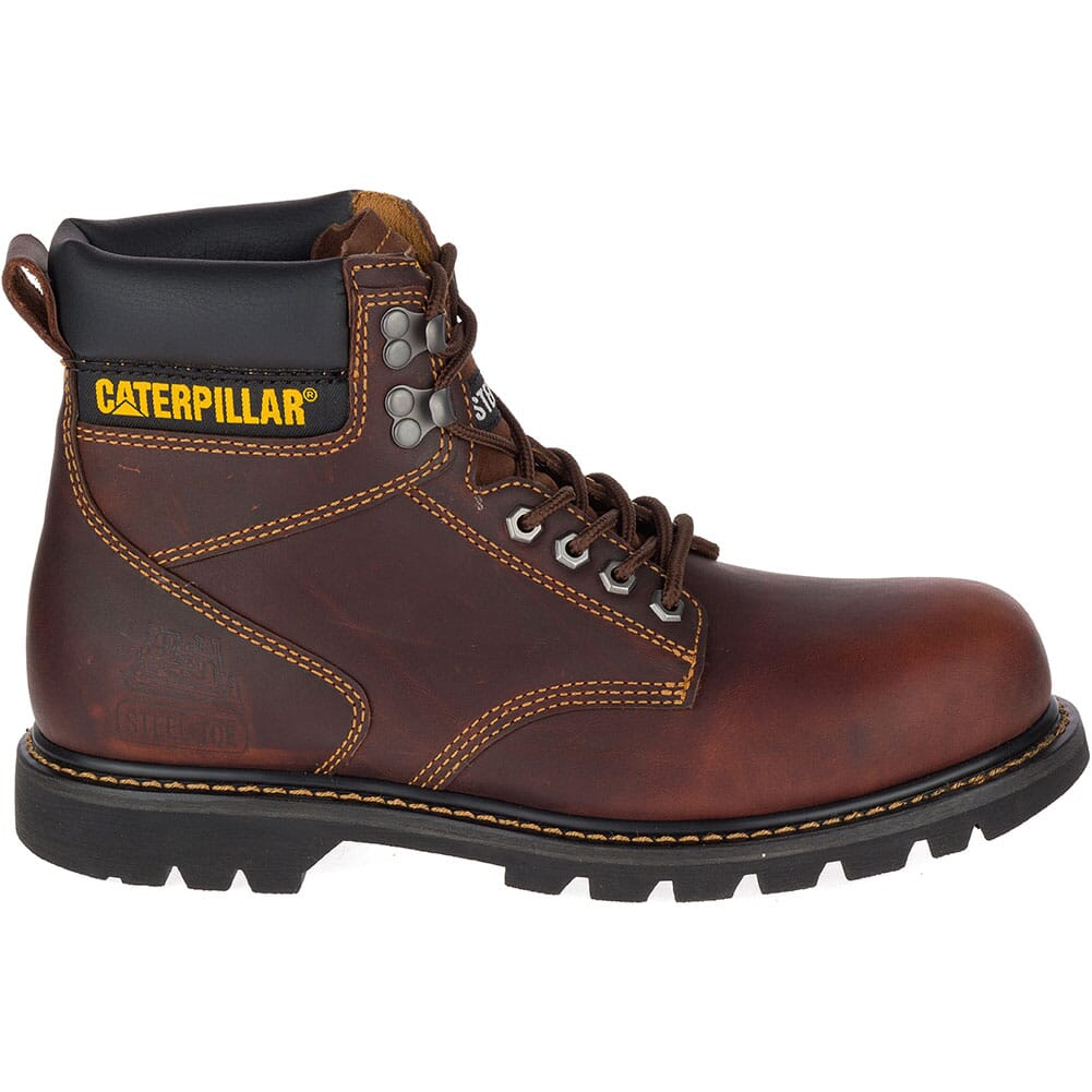 Caterpillar Men's Second Shift Safety Boots - Dark Brown