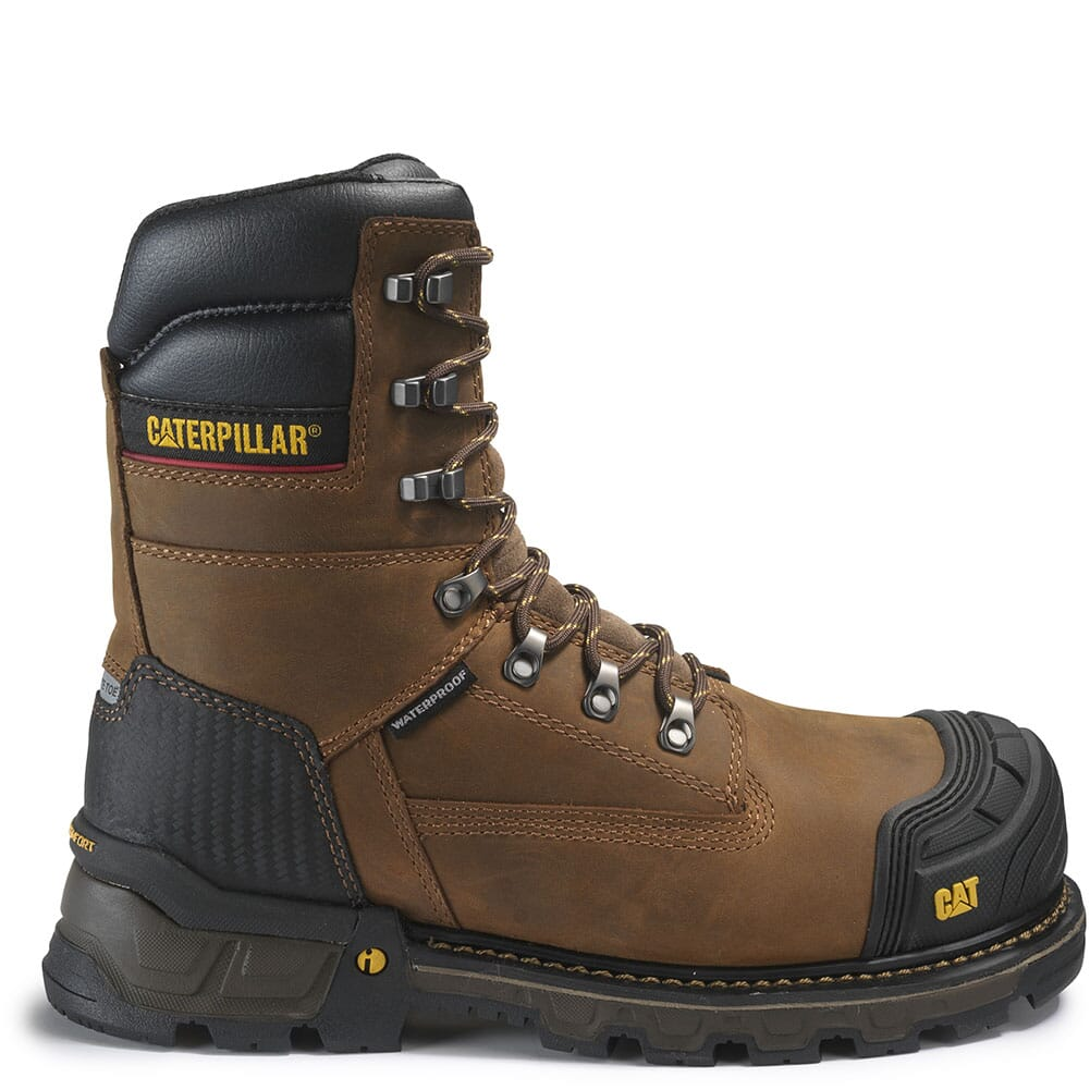 Caterpillar Men's Excavator XL WP Safety Boots - Dark Brown