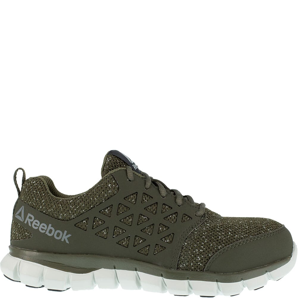 Reebok Women's Sublite Cushion Safety Shoes - Oilve Green