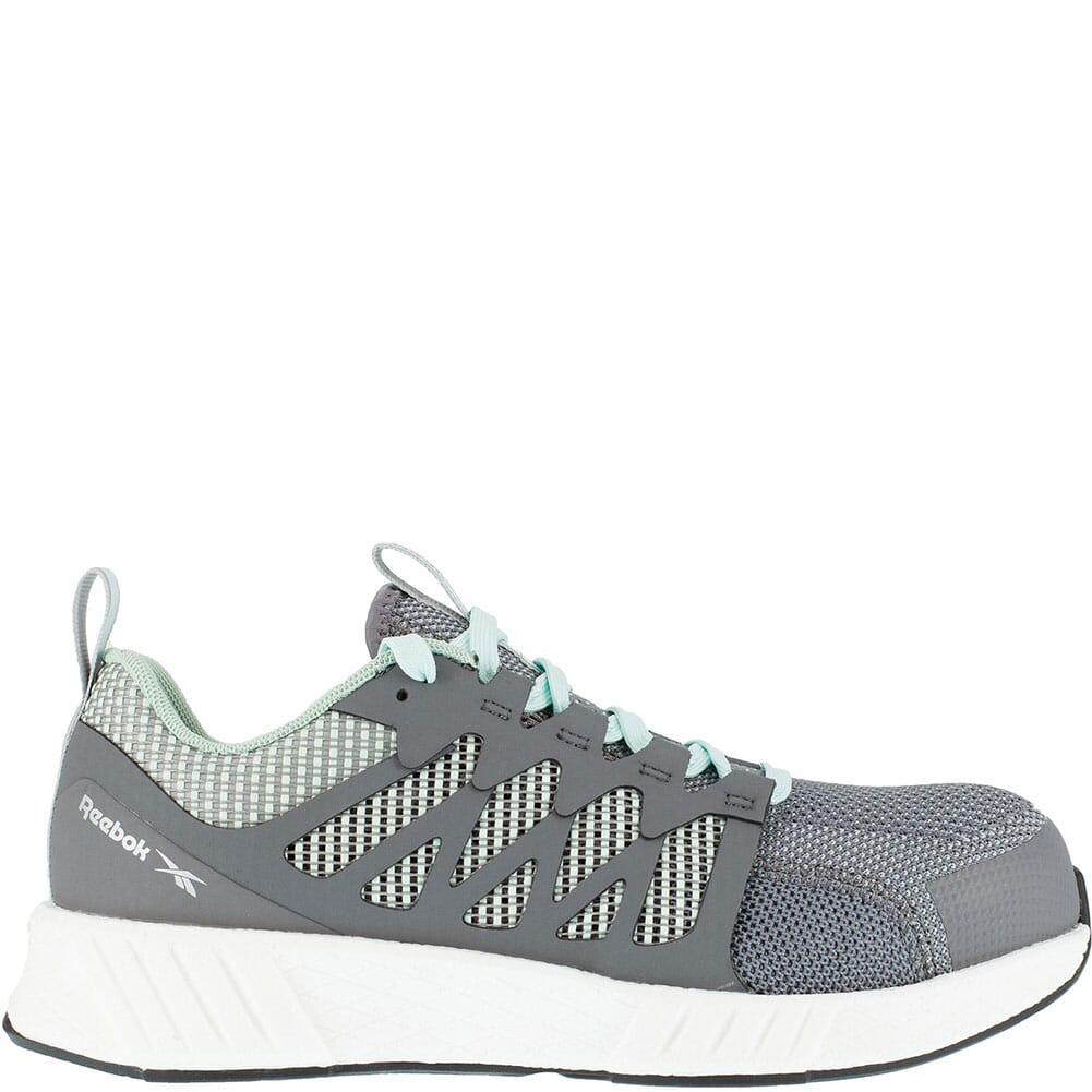 RB316 Reebok Women's Fusion Flexweave Safety Shoes - Grey/Mint Green