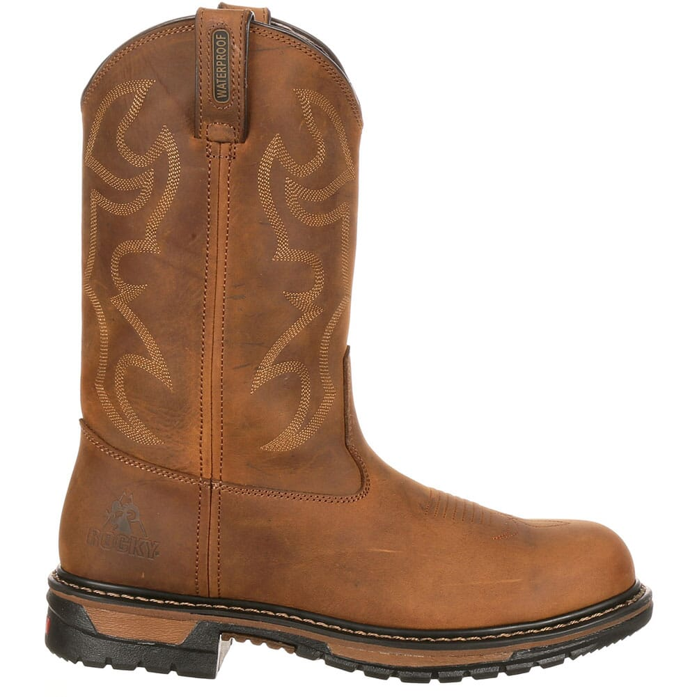 Men's Safety Branson Rocky Boots - Brown