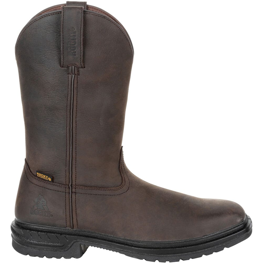 RKW0276 Rocky Men's WorkSmart WP Safety Pull-On Boots - Brown