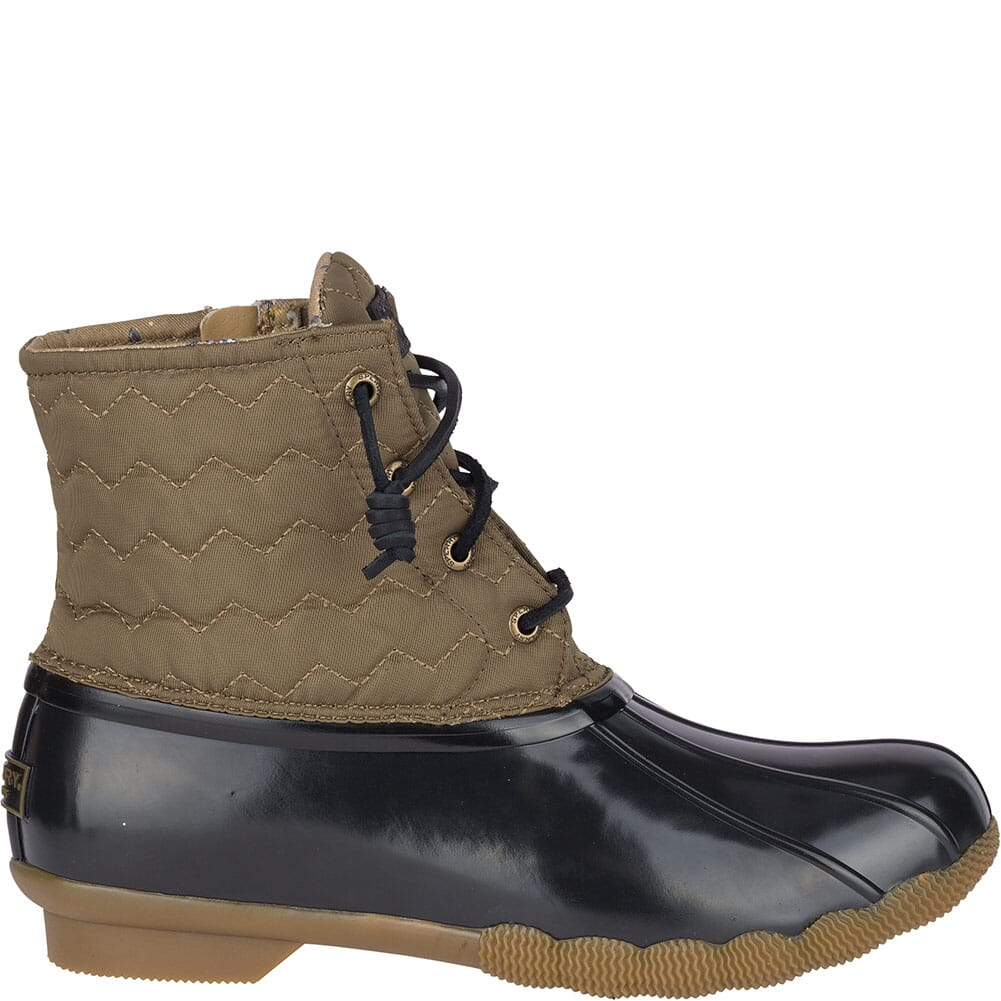 Sperry Women's Saltwater Quilted Chevron Duck Boots - Olive
