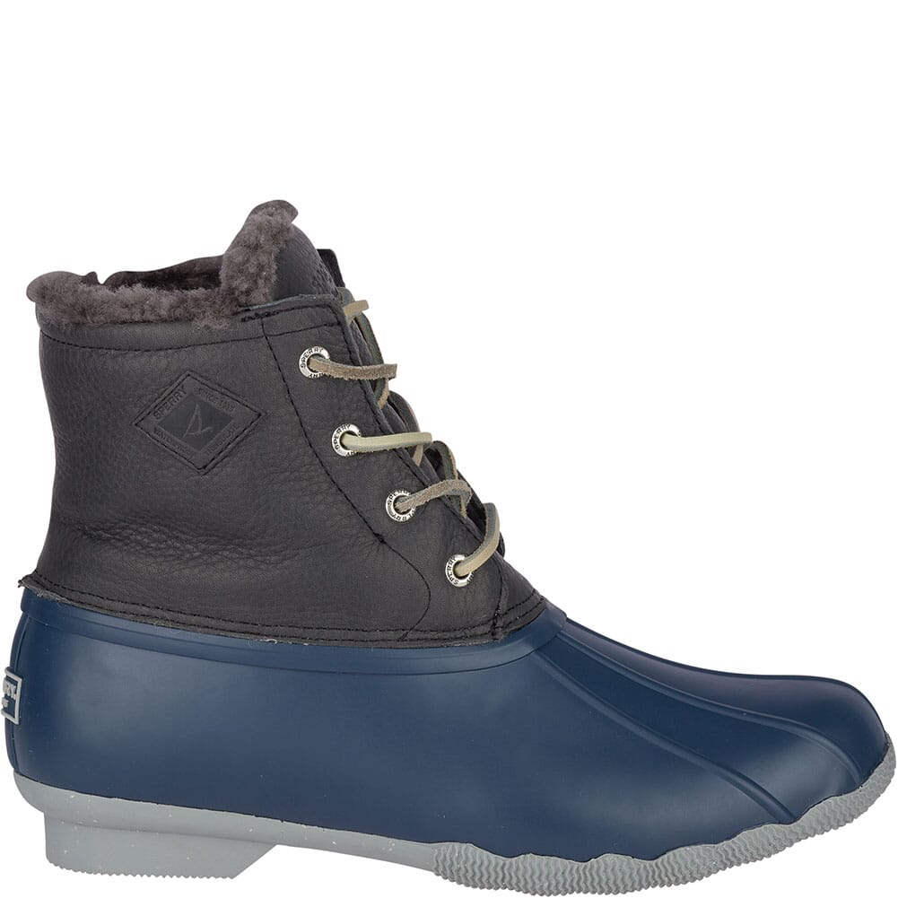 Sperry Women's Saltwater Winter Luxe Duck Boots - Grey/Navy
