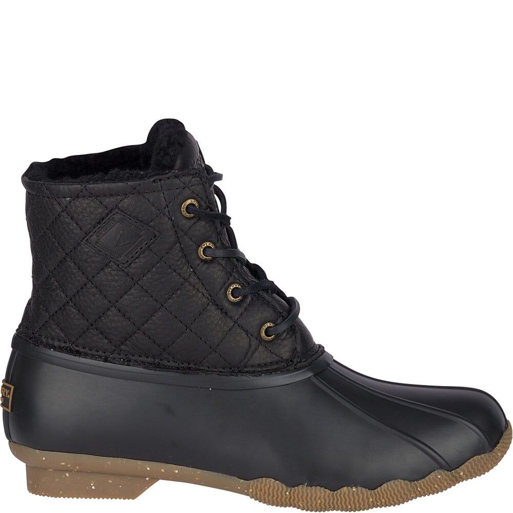 Sperry Women's Saltwater Winter Luxe Duck Boots - Black Quilt