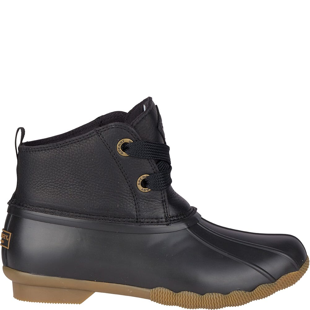 Sperry Women's Saltwater 2-Eye Leather Duck Boots - Black
